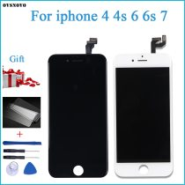 100% Tested New LCD for iPhone 4G LCD Display with Touch Digitizer Assembly Black/White Free Shipping