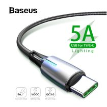 Baseus Upgrade USB Type C Cable 5A Quick Charge for Huawei P20 Pro 2A  Fast Charging USB-C Cable for Xiaomi redmi note 7