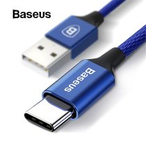 Baseus USB Type C Cable For Samsung Galaxy Note8 S8 S9 Plus Mobile Phone Fast Charging Cable 3A Type-C USB Cable for Oneplus 6