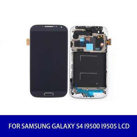 Original For Samsung Galaxy S4 i9500 i9505 Lcd Display Screen Touch Digitizer with Frame Assembly Replacement