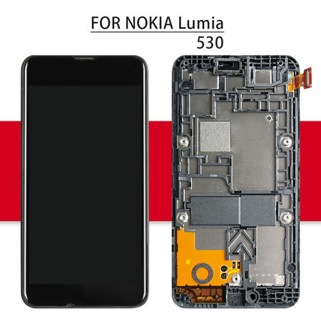 Srjtek Display For Nokia Lumia 530 LCD Touch Screen With Frame For Nokia Lumia 530 Digitizer Assembly For Lumia 530 Display