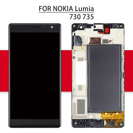 Screen For Nokia Lumia 730 735 LCD Display Matrix Touch Screen Digitizer Full Assembly/Frame 4.7'' For Nokia Lumia 730 Display