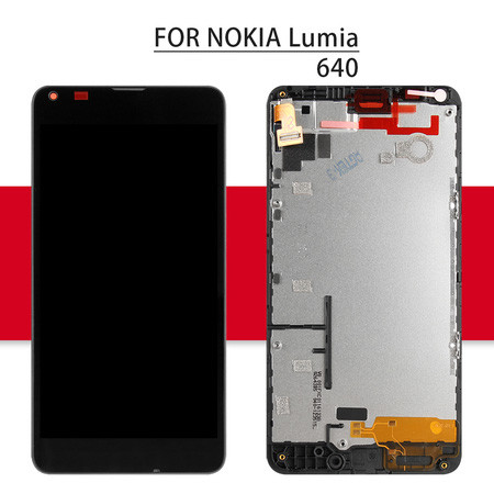 Srjtek New For Microsoft For Nokia Lumia 640 Full LCD Display + Touch Screen with Digitizer Assembly 1280*720 5.0'' With Frame