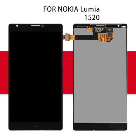 Srjtek LCD For NOKIA Lumia 1520 Display Touch Screen With Frame For Nokia Lumia 1520 Digitizer Assembly 6.0'' For Lumia 1520 LCD