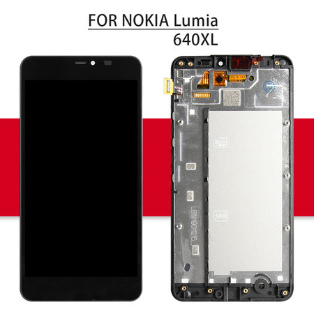 Srjtek For NOKIA Lumia 640XL LCD Touch Screen With Frame For Nokia Lumia640 Display Digitizer Glass Assembly For Lumia 640 XL