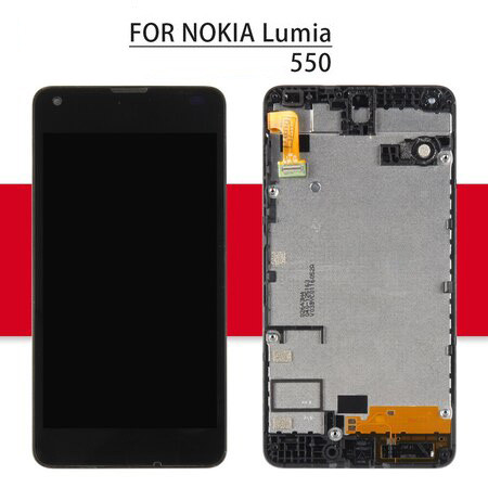 Srjtek For Nokia Lumia 550 LCD Display Matrix + Touch Screen Digitizer Full Assembly/Frame 5.0'' For Nokia Lumia 550 Screen
