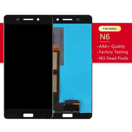 Srjtek Screen For Nokia 6 LCD Display Touch 5.5'' 1920*1080 For Nokia N6 Digitizer Assembly Glass Sensor Replacement Parts