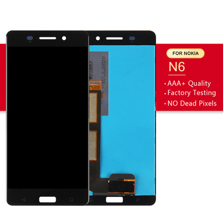 Srjtek Screen For Nokia 6 LCD Display Touch With Frame For Nokia N6 Digitizer Assembly Glass Sensor Replacement Parts 1920*1080