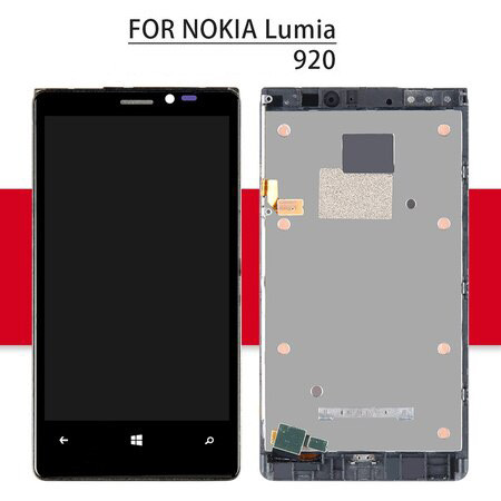 Srjtek For Nokia Lumia 920 LCD Touch Screen Digitizer For Nokia Lumia 920 Display Assembly With Frame 4.5'' For Nokia Lumia 920