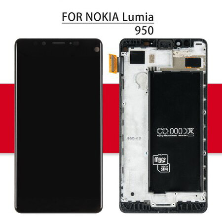 Srjtek Display For Nokia Lumia 950 LCD Touch Screen With Frame For Nokia Lumia N950 Display Digitizer Assembly For Lumia 950