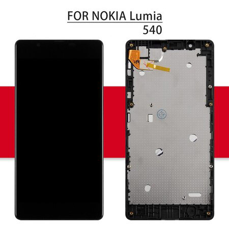 Screen For NOKIA Microsoft Lumia 540 Display LCD Matrix Touch Screen Digitizer with Frame 5.0'' RM-1141 N540 LCD Display