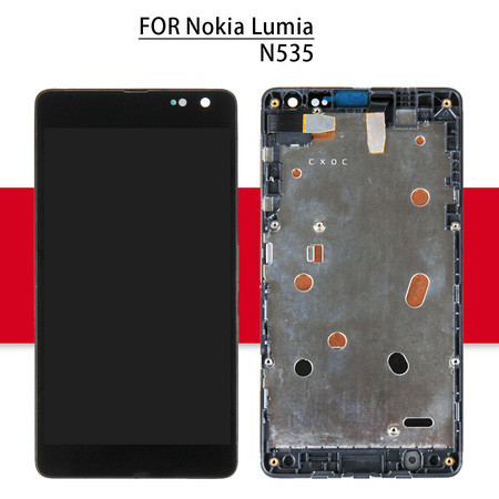 2S 2C For Microsoft For Nokia Lumia 535 LCD N535 RM-1090 Display Matrix Touch Screen Digitizer Full Assembly Frame TouchScreen