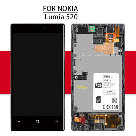 Srjtek Screen For Nokia lumia 520 LCD Display For Nokia lumia 520 Touch Screen Digitizer Assembly Replacement Parts 4.0'' N520