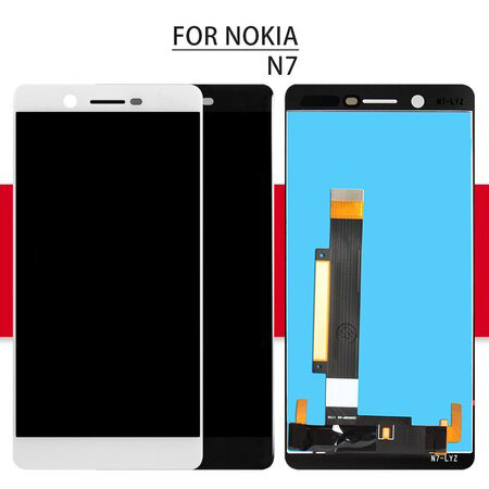 Srjtek Screen For Nokia 7 LCD 5.2'' 1920*1080 For Nokia N7 Display Digitizer TouchScreen Assembly Glass Sensor Replacement Parts