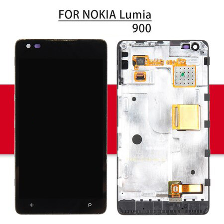 Srjtek Display For Nokia lumia 900 LCD Touch Screen With Frame For Nokia lumia N900 Digitizer Assembly Replacement Parts