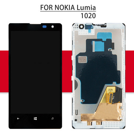 Srjtek 4.5  For Nokia Lumia 1020 Display Touch Screen with Frame For Nokia Lumia 1020 LCD Digitizer Assembly Replacement Parts