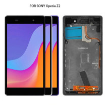100% Tested For SONY Xperia Z2 LCD Touch Screen with Frame For SONY Xperia Z2 Display Digitizer Assembly D6502 D6503 D6543