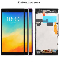 Tested For SONY Xperia Z Ultra XL39h XL39 C6833 LCD Display Touch Screen Digitizer For SONY Xperia Z Ultra Display with Frame