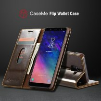 CaseMe Magnetic Wallet Phone Case For Samsung A8 A7 A6 2018 Luxury R64 Leather Flip Case For Galaxy J4 J6 Plus J6 2018 Covers