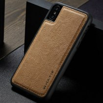 WHATIF Phone Cases For iPhone XS Max DIY Paper Luxury Unique Leather Back Case For iPhone XS Max Ultra Thin Back Cover Coque