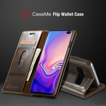 CaseMe Magnetic Wallet Case for Samsung Galaxy S10 Luxury Double Edge Card Flip Case for Galaxy S10e Note 8 9 S6 S7 S8 S9+ cases