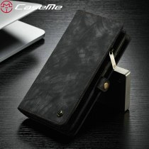 CaseMe Original Phone Case For Huawei P30 Retro Genuine Leather Magnetic Removable Wallet Case For Huawei P30 Pro P30 lite Cover