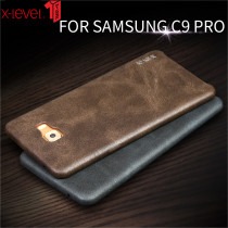 X-Level Leather Phone Case for Samsung Galaxy C9 Pro Case Luxury PU Soft Touch Ultra Thin Cover Case for Samsung C9 Pro