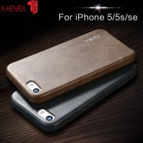X-Level Leather Case For iPhone 5 5S SE Original Shockproof Luxury Business Vintage Back Cover Coque iPhone 5 5S SE