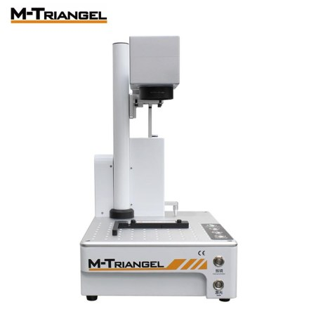 M-Triangel Mgones 20W Fiber Laser LCD Back Glass  Separator Metal Marking Machine Used for Aluminum Gold Silver Brass Engraving