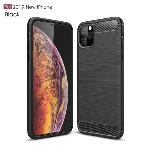 Carbon Fiber Case For iPhone 11 11Pro Max 2019 XI XiR Xi MAX Xi Pro 5.8 6.5 6.1 inch Phone Back Coque Cover Case For iPhone XIR