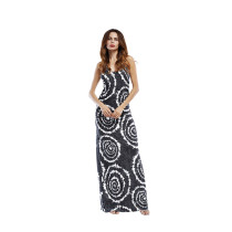 New slim long skirt strap dress print 2018 large size