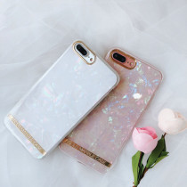 Golden border iPhone case Marble design shockproof Xs Max Protective silicone cover