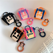 smiley mini bag Airpods case 囧 face Apple tide brand Shockproof silicone shell