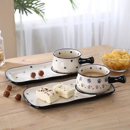 Lovely Ceramic Cup and Dish Set for Afternoon Tea, Breakfast