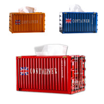 Metal Shipping Container Tissue Box Cover