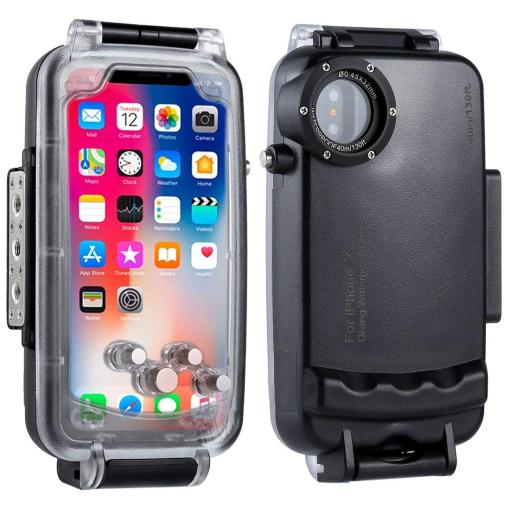iPhone X Diving Waterproof Case Underwater Housing Professional [40m/130ft] Diving Device