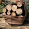 Firewood Log Carrier with Gloves Durable Canvas Wood Holder Bag Large Capacity for Fireplace & Outdoor