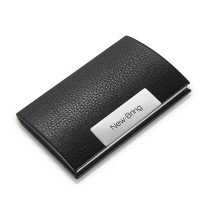 New Bring Business Card Holder for Men Metal Credit Card Case Wallet Slim Travel Wallet, Black