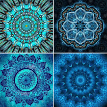 4 Packs 5D DIY Diamond Painting--Mandala Full Drill Diamonds