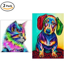 2 Pack 5D Diamond Painting-Cat & Dog