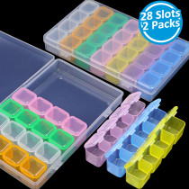 2 Packs 28 Slots Diamond Embroidery Box -Maxi Color