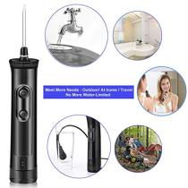 Cordless Water Flosser Oral Irrigator - Ejiubas 360°Anti Leak Rechargeable Dental Flosser IPX7 Waterproof Tooth Cleaner Water Flossing with 4 Modes,2 Jet Tips,Ideal for Adult & Kids