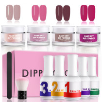 Ejiubas Dip Nail Powder Nail Starer Kit Acarylic Dipping System Fast Dry Dip Powder kit Acrylic Nail Dipping Powder Manicure Nail art set