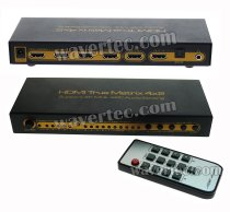 Wavertec 4 in 2 Out HDMI Splitter Switch Matrix 4x2 4K Dolby 7.1