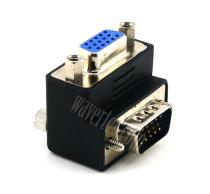 Wavertec 90 Degree VGA Adapter Male to Female Connector Right Angle Extender