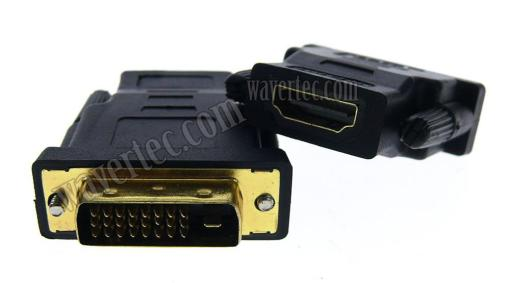 Wavertec 24+1 Pin DVI Male to HDMI Female Adapter Connector Gold Plated