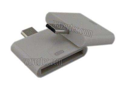 Wavertec Apple 30 Pin Female to Micro USB Male Adapter Converter