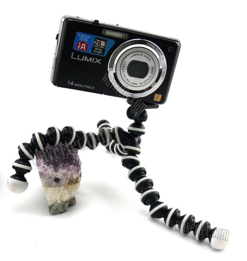 Wavertec Spider Flexible Mini-Tripod for Selfie for iPhone Samsung Galaxy Pocket DC Nikon Canon OEM