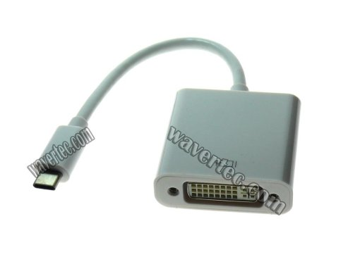 Wavertec Thunderbolt USB C to DVI Female Adapter Cable Surface MacBook