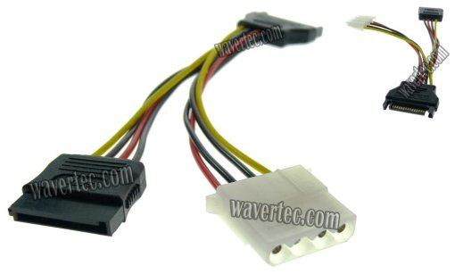 WT 15Pin SATA Male to Female 4Pin IDE Molex Female Power Adapter Cable
